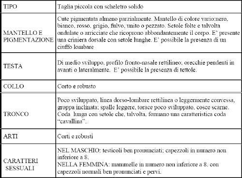 Caratteristiche morfologiche della razza Sarda