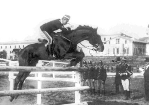 Caprilli durante il Concorso Ippico - Torino 1902