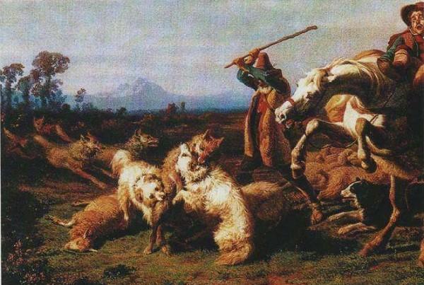 Filippo Palizzi - Caccia al Lupo