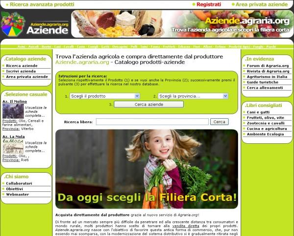 Il catalogo online di aziende agricole ed agroalimentari