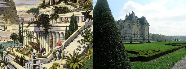Giardino di Babilonia e alla francese