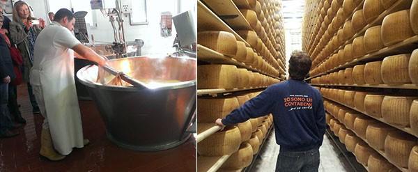 Visita caseificio Parmigiano Reggiano