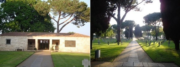 Cinta muraria e parco dell'area cimiteriale