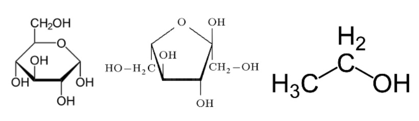 Formula chimica di glucosio e fruttosio