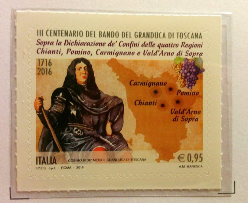 francobollo chianti 300 anni