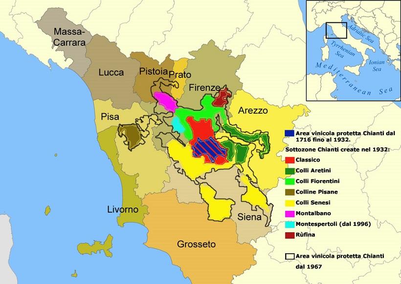 chianti zone sottozone vino territorio