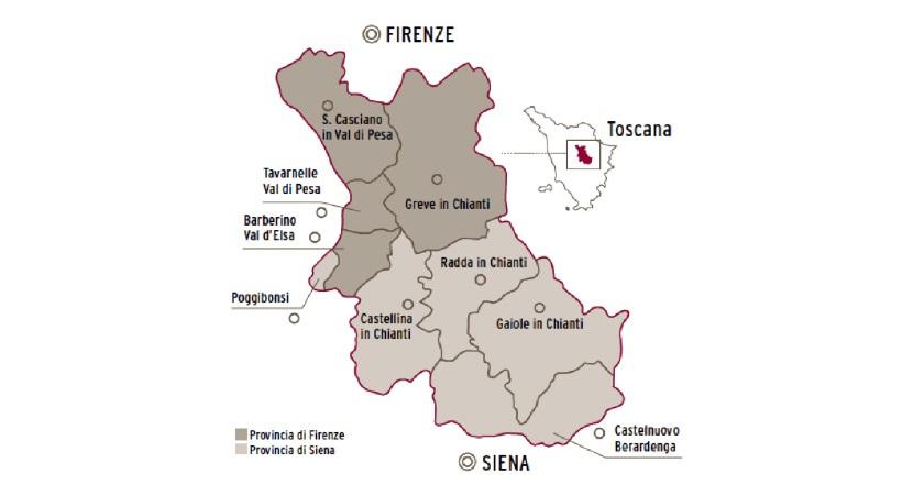 chianti geografico territorio vino