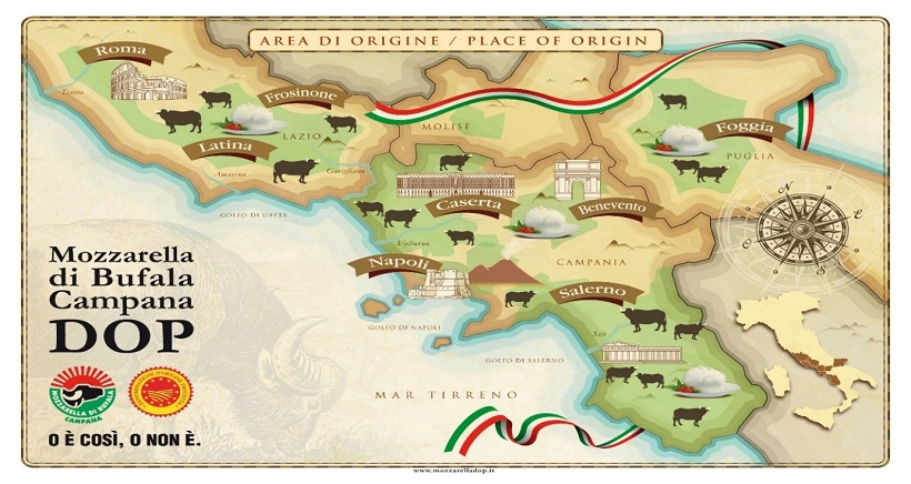 bufala campana areale di origine