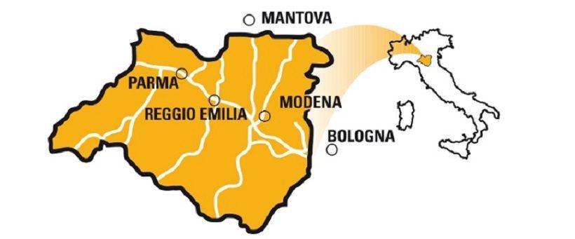 Zona del parmigiano reggiano