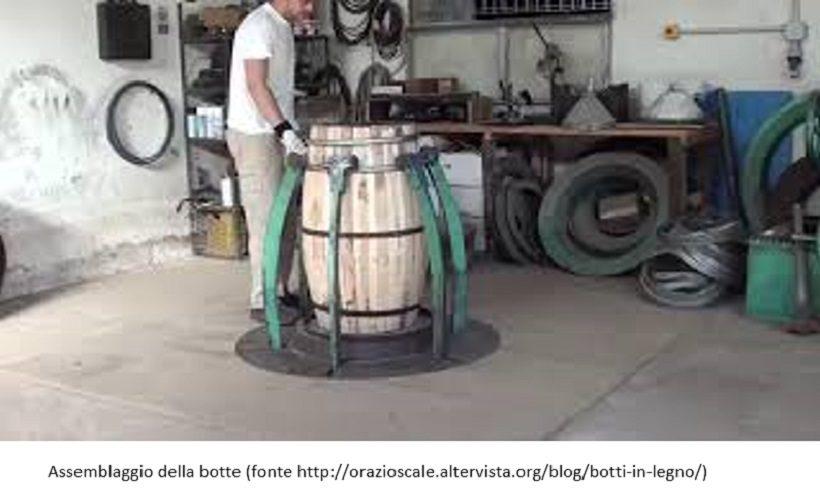 botte piccola assemblaggio cantina vino legno