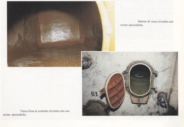 contenitori vino cantina cemento