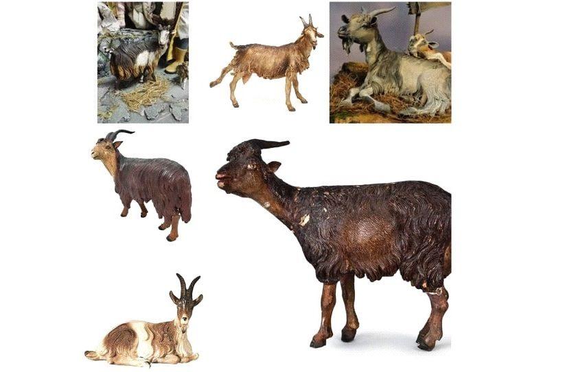 statuette capre primitive