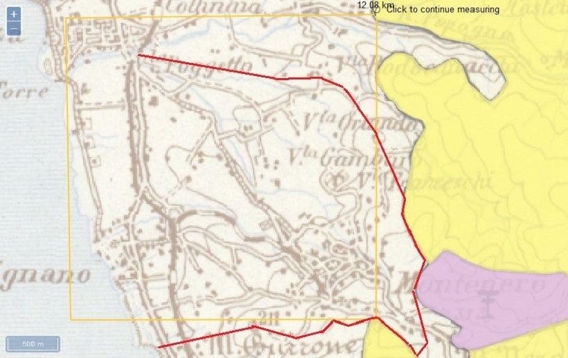 carta storica regionale toscana livorno banditella montenero