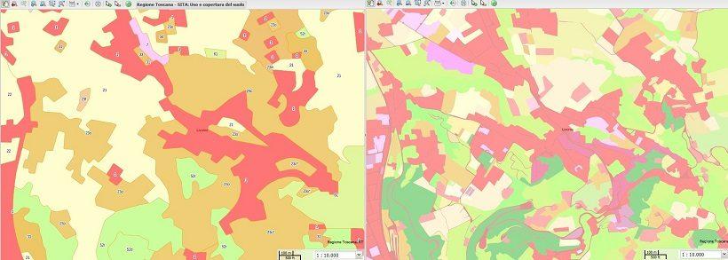 carta uso del suolo geoscopio toscana regione costa
