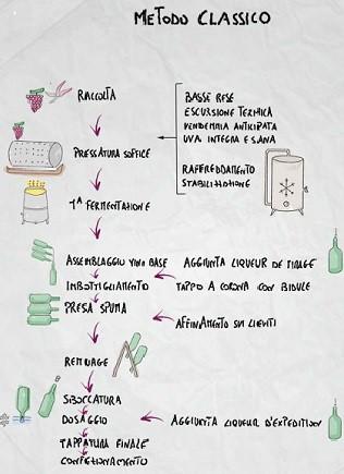 metodo classico spumante procedimento schema vino