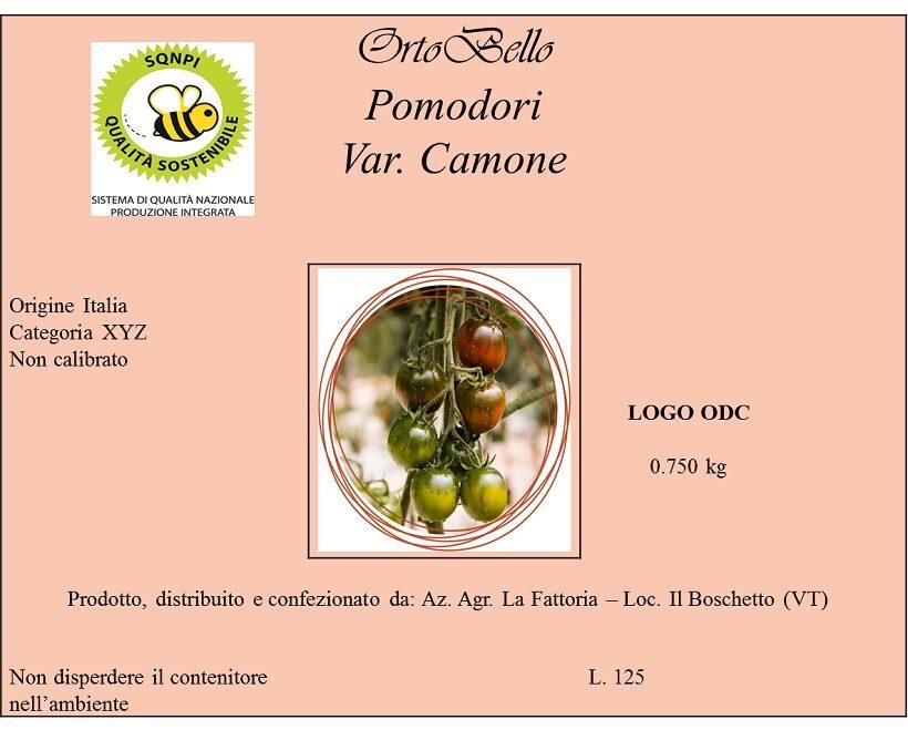 Etichetta pomodoro fresco