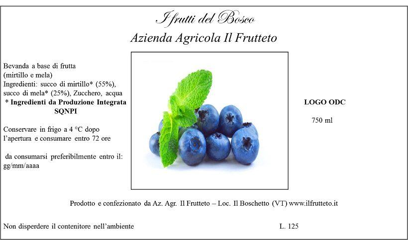 Etichetta succo di frutta