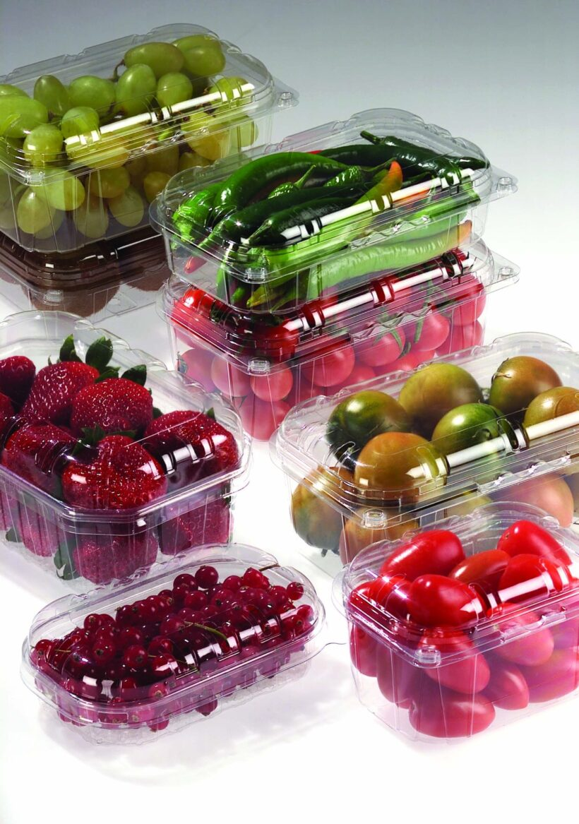 Pack in plastica per prodotti ortofrutticoli