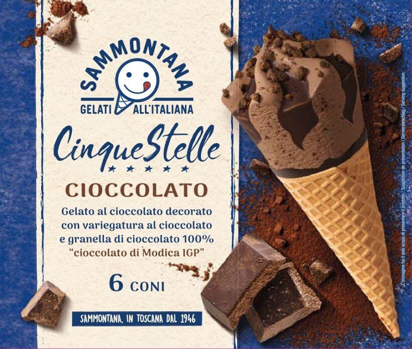 Cornetto Cinque Stelle con Cioccolato di Modica IGP