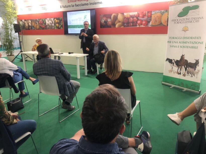 Gianluca Bagnara durante l'evento svoltosi al SANA di Bologna presso lo stand della Regione Emilia Romagna